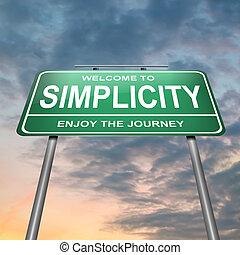 eenvoud, concept.