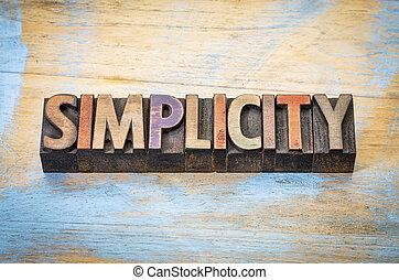 eenvoud, woord, abstract