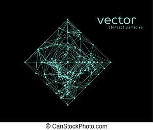 eenvoudig, abstract, -, illustratie, vorm, vector, rhomb.