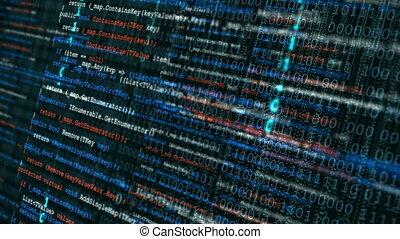 eenvoudig, achtergrond., code, programmering