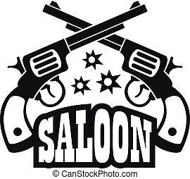 eenvoudig, berline, pistool, stijl, logo