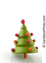 eenvoudig, boompje, kerstmis