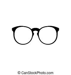 eenvoudig, brillen, pictogram