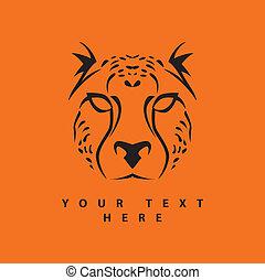 eenvoudig, cheetah, gezicht