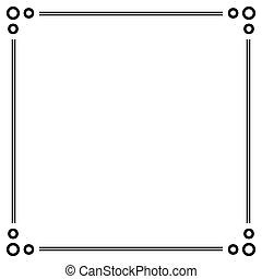 eenvoudig, decoratief, decoratief, frame.