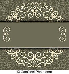 eenvoudig, decoratief, decoratief, vector, frame