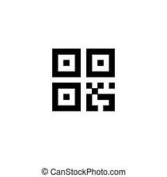 eenvoudig, digitale , qr, code, meldingsbord