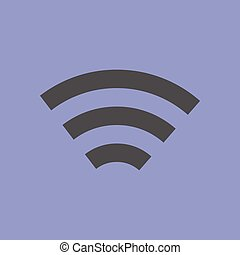 eenvoudig, draadloos, symbool, netwerk