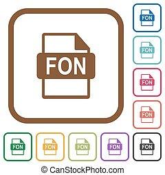 eenvoudig, fon, formaat, bestand, iconen