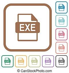 eenvoudig, formaat, exe, bestand, iconen