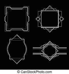 eenvoudig, frame, deco, kunst