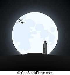 eenvoudig, halloween, theme.