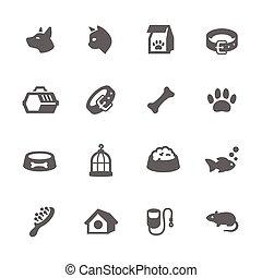 eenvoudig, huisdieren, iconen