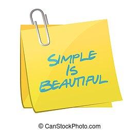 eenvoudig, is, mooi, post, boodschap, illustratie