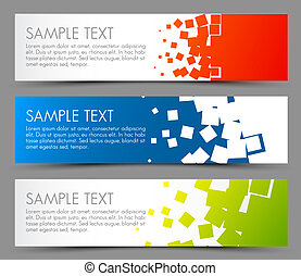 eenvoudig, kleurrijke, horizontale banners
