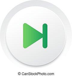 eenvoudig, knoop, volgende,  Vector, Muziek,  interface,  UI, cirkel
