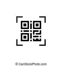 eenvoudig, machine-readable, qr, code