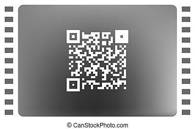 eenvoudig, pictogram, qr, code