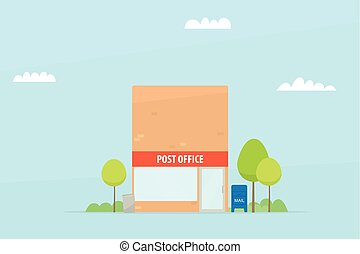 eenvoudig, postkantoor