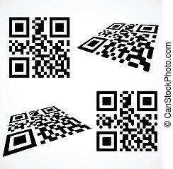 eenvoudig, qr, code