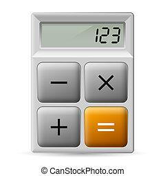 eenvoudig, rekenmachine, pictogram