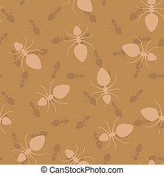 eenvoudig, -, seamless, mieren, vector, textuur
