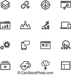 eenvoudig, seo, iconen