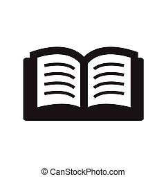 eenvoudig, set, boekjes , pictogram
