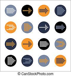 eenvoudig,  Set, knoop, meldingsbord, vorm,  Vector, richtingwijzer,  Internet, cirkel, pictogram
