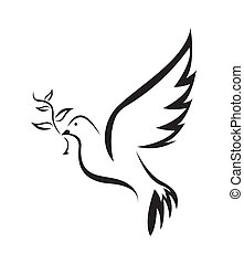 eenvoudig, symbool, vrede, duif