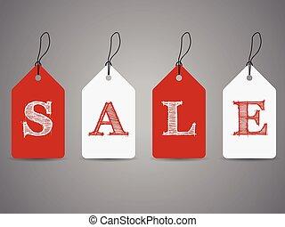 eenvoudig, tekst, etiketten, shoppen , verkoop