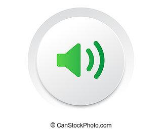 eenvoudig, ui, muziek, interface, cirkel, geluid, unmute,...