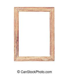 eenvoudig, van hout vensterraam, foto