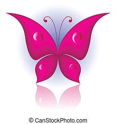 eenvoudig, vlinder
