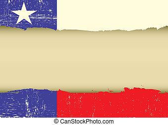 eenzaam, ster, vlag, gekraste, vlag