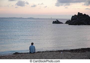 eenzaamheid, strand