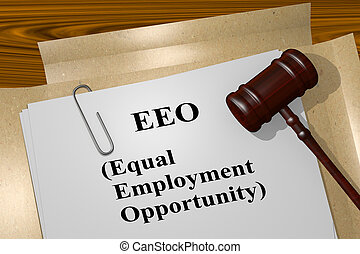 EEO - Equal Employment Opportunity concept - 3D illustration...
