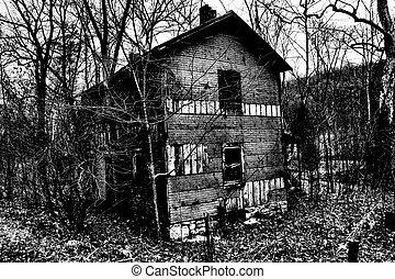 haunted house photo I took in Burkittsville