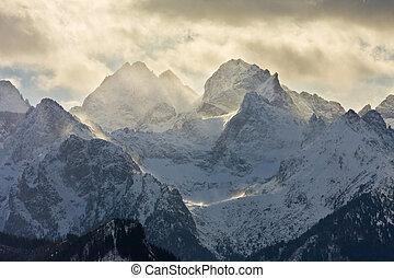 eeriness, 山, tatry, 風景, ポーランド