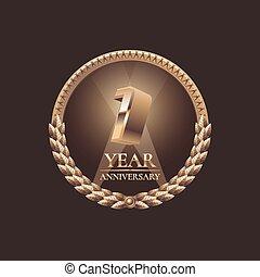 eerst, jaar, verjaardag viering