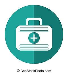 eerste hulp, geval, medische noodsituatie, schaduw