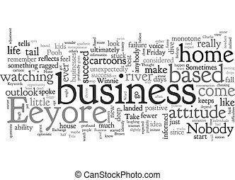eeyore, affari, factor, casa, testo, fondo, wordcloud, basato, concetto