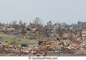 EF5 Tornado Damaged Landscape - EF5 is the strongest rating...
