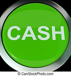 efectivo, botón, exposiciones, dinero, ahorros, y, incomes