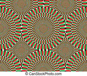 efeito, movement., vetorial, óptico