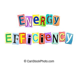 efektivnost, energie, concept.
