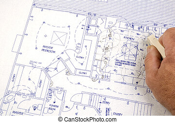 effacement, bâtiment, fait, changements, plans