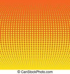 effect., イラスト, halftone, ベクトル, 背景, オレンジ