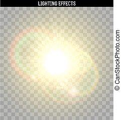 effect., 太陽の まぶしさ, 黄色灯