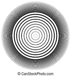 effect., 抽象的, 円, vector., さざ波, 円, 同心である, element.